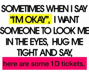 one direction, 1d, and ticket image
