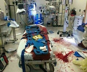 blood and hospital image