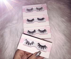 eyelashes, fashion, and glamour image