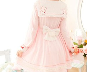 dress, kawaii, and pink image