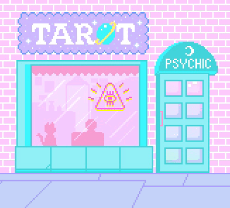 art, pixel, and psychic image