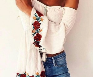 fashion, off the shoulder, and tops image