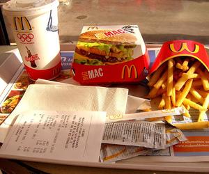 food, McDonalds, and big mac image