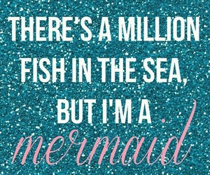 mermaid, quote, and glitter image
