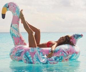 bikini, float, and swimsuit image