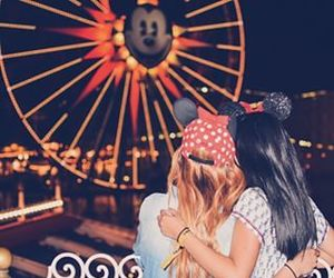 disneyland, goals, and friends image