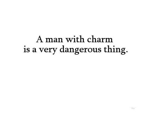 charm, man, and quote image