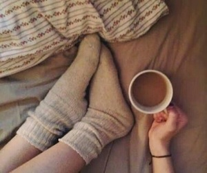 coffee, brown, and feet image