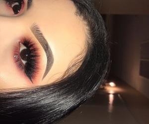 makeup, eyelashes, and make image