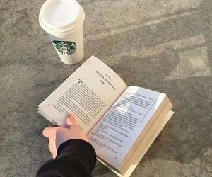 atmosphere, book, and coffee image