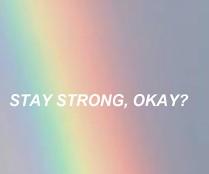 aesthetic, rainbow, and text image