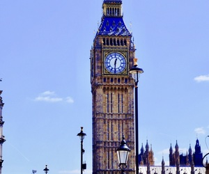 Big Ben, watch, and blue image