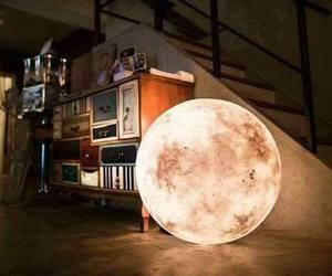 moon, lamp, and luna image