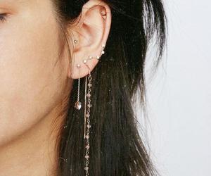 jewelry, Piercings, and ear piercings image
