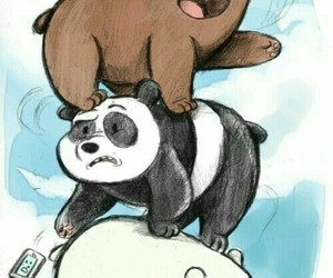 we bare bears, panda, and drawing image