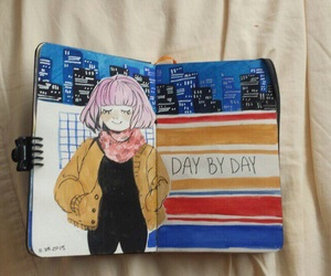 art, diary, and girls image