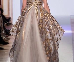 dress, Zuhair Murad, and gold image