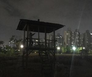 black, night, and city image