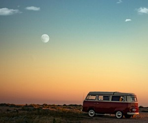 moon, sunset, and adventure image