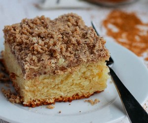 cake, sour cream, and streusel image