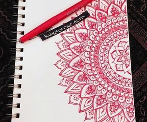 drawing, doodle, and mandala image