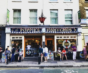 british, fish and chips, and location image