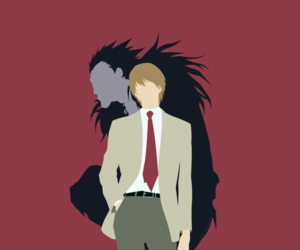 anime, death note, and minimalist image