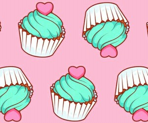 wallpaper, cupcake, and background image