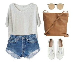 outfit, sunglasses, and white image