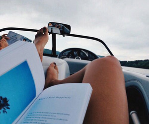 book, summer, and car image