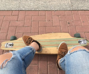 longboard, park, and skate image