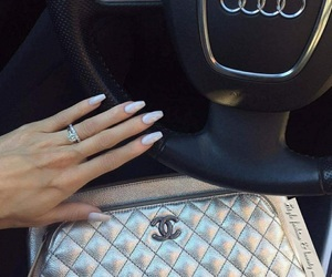 car, chanel, and nails image