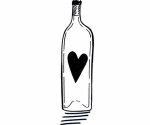 alcohol, bottle, and heart image