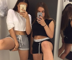 best friends, fashion, and selfie image
