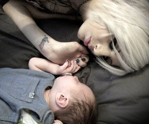 baby, girl, and tattoo image