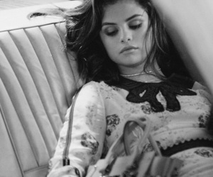 selena gomez, coach, and black and white image