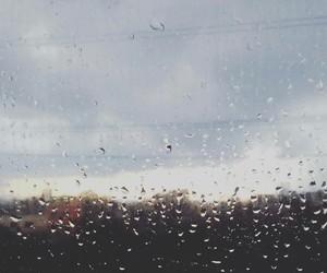 city, rain, and raindrops image