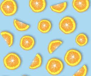 orange, wallpaper, and fruit image