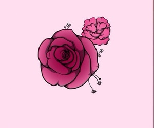 wallpaper, flower, and pink image