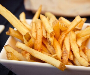 food, gold, and fries image