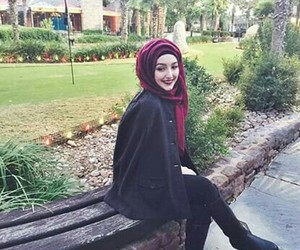 eve, hijab, and red image