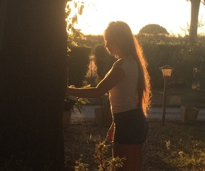 girls, nature, and summer image