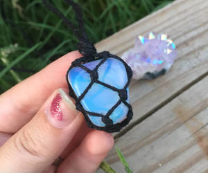 crystal jewelry, healing stone, and opalite necklace image
