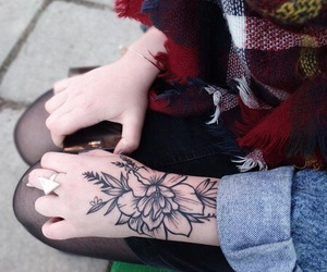 hand and tattoo image