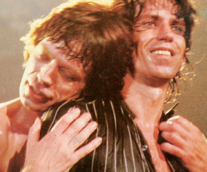 Keith Richards and mick jagger image