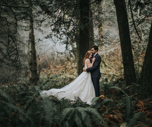 couple, dress, and fairytale image