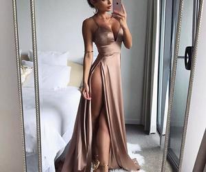 dress, satin, and vestido image