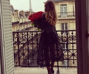 paris, rose, and dress image