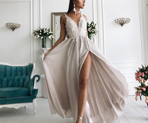 dress, luxury, and outfit image