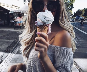 girl, ice cream, and tumblr image